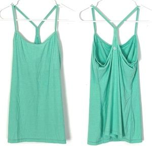 EUC Lululemon Power Y Tank Heathered Menthol 6
